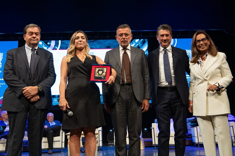 Da sinistra: Guido Gentili, Francesca Nava, Valter Caiumi, Gian Luigi Zaina e Cesara Buonamici